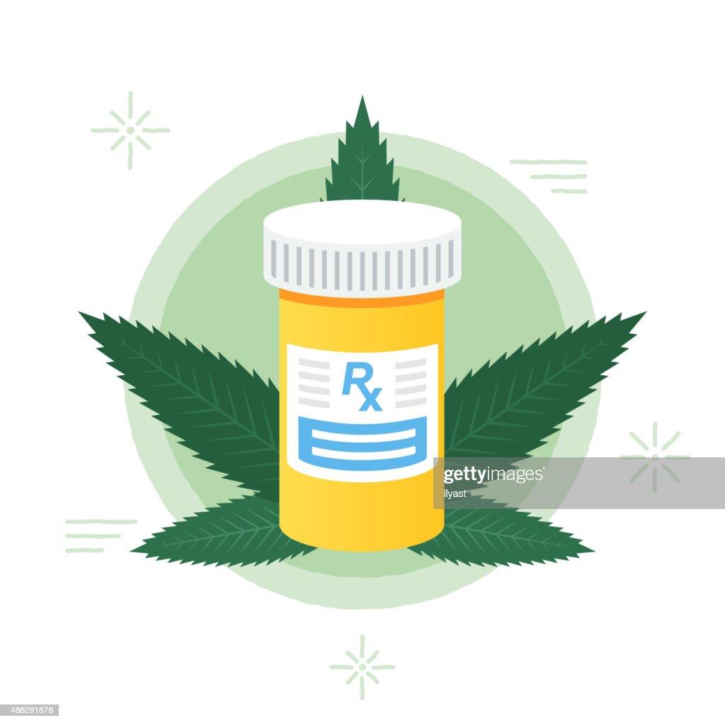 Marijuana médico : Ilustração