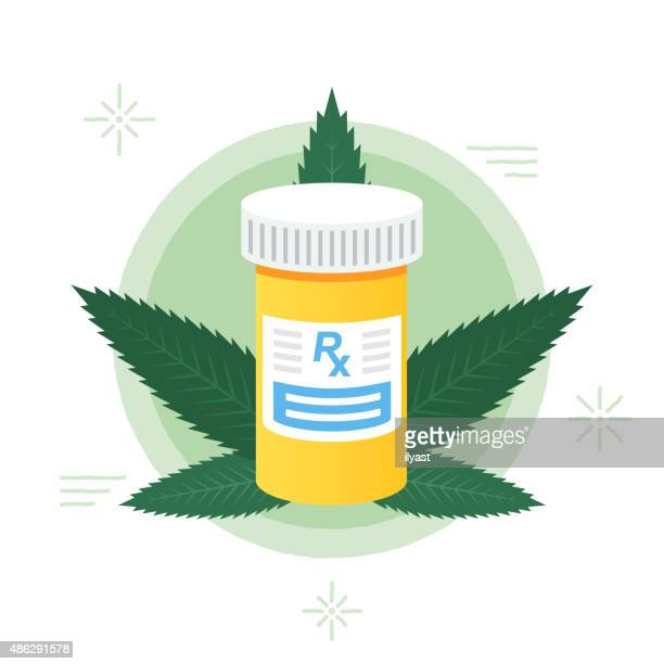 medical marijuana - marijuana leaf text symbol stock illustrations, clip art, cartoons, & icons
