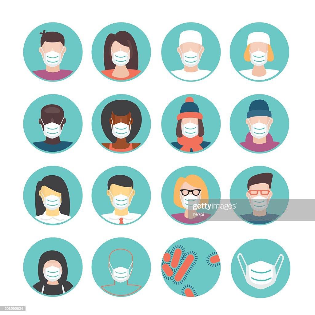 Medical masks set