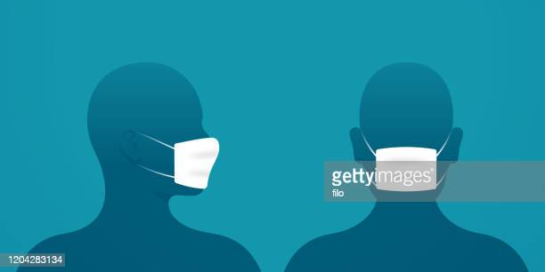 medical masks - side view stock illustrations