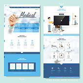 medical one page website design template