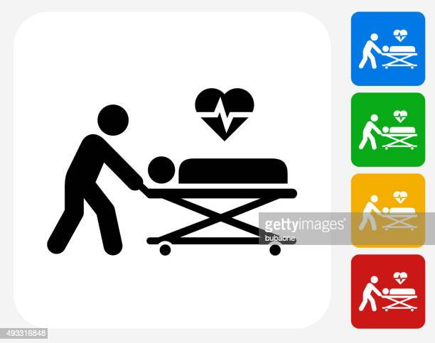 Medical Patient Icon Flat Graphic Design