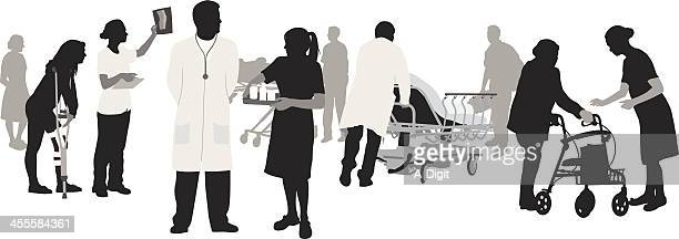 Medical Personnel Vector Silhouette