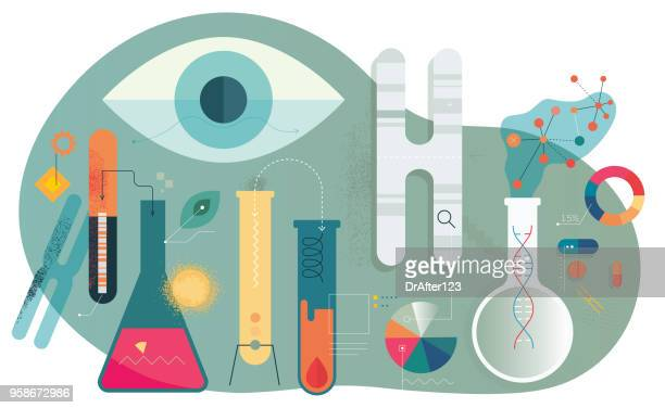 medical pharmacy research - grainy stock illustrations, clip art, cartoons, & icons