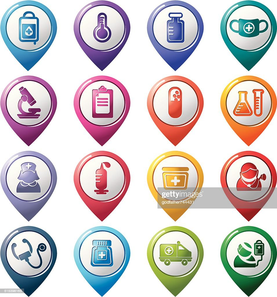 Medical Pointer Icons