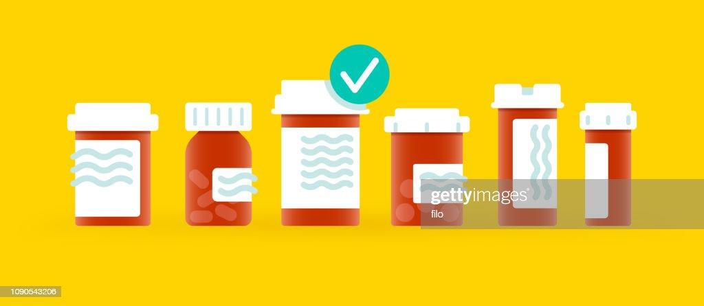 Drogas de prescrição médica : Ilustração