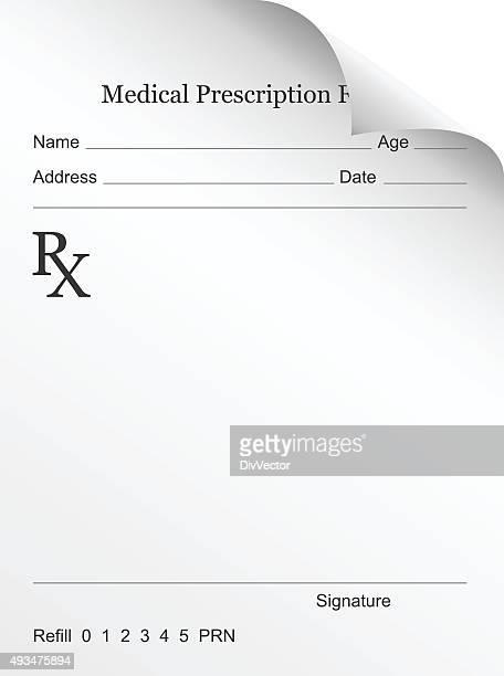 ilustrações, clipart, desenhos animados e ícones de receita médica - medicamento receitado