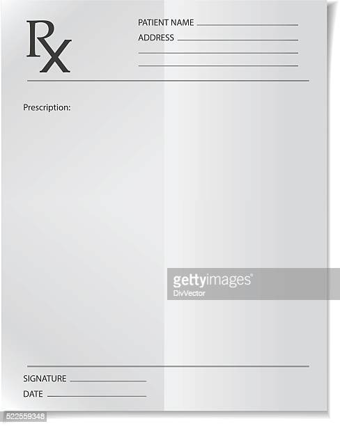 medical prescription - prescription stock illustrations, clip art, cartoons, & icons