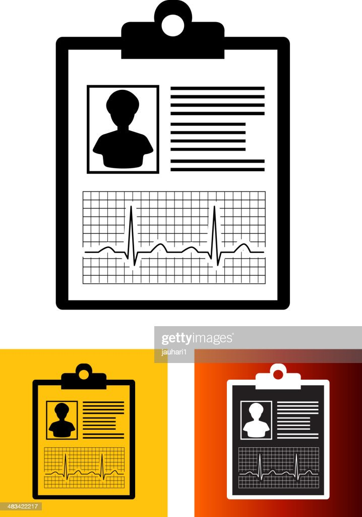 medical report flat color icon vector art getty images