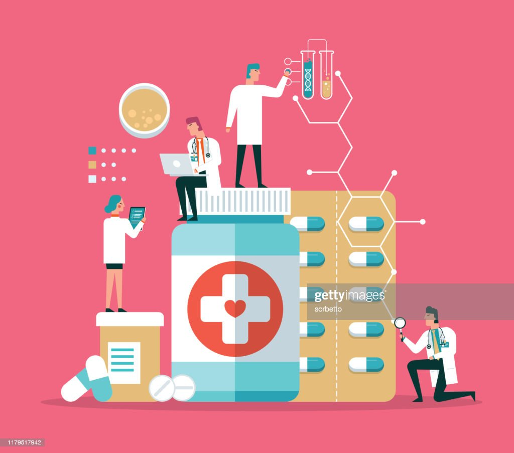 Diagnósticos do laboratório de pesquisa médica : Ilustração