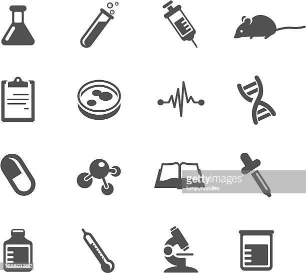 ilustrações, clipart, desenhos animados e ícones de investigação médica símbolos - ciência