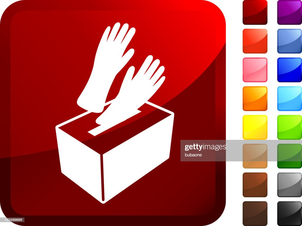 medical rubber gloves in a box internet Vector Icon