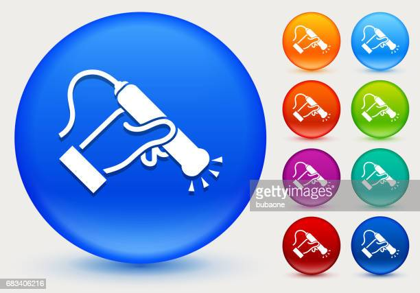 medical scan icon on shiny color circle buttons - x ray equipment stock illustrations, clip art, cartoons, & icons