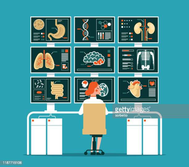 メディカルスキャン - 医療診断機器点のイラスト素材/クリップアート素材/マンガ素材/アイコン素材