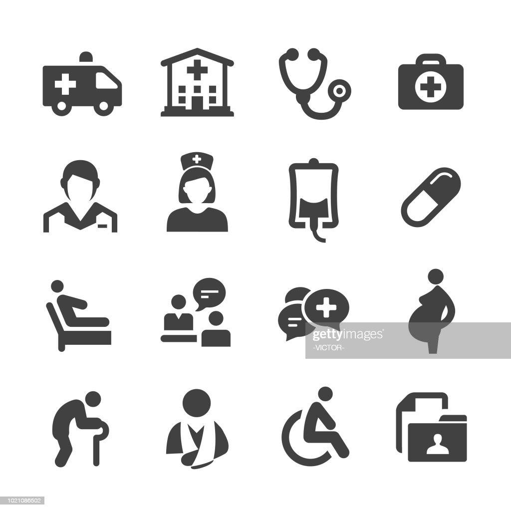 Serviço médico ícones - série Acme : Ilustração
