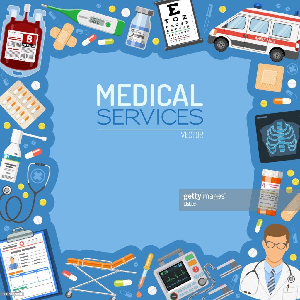 Medical Services Banner and Frame