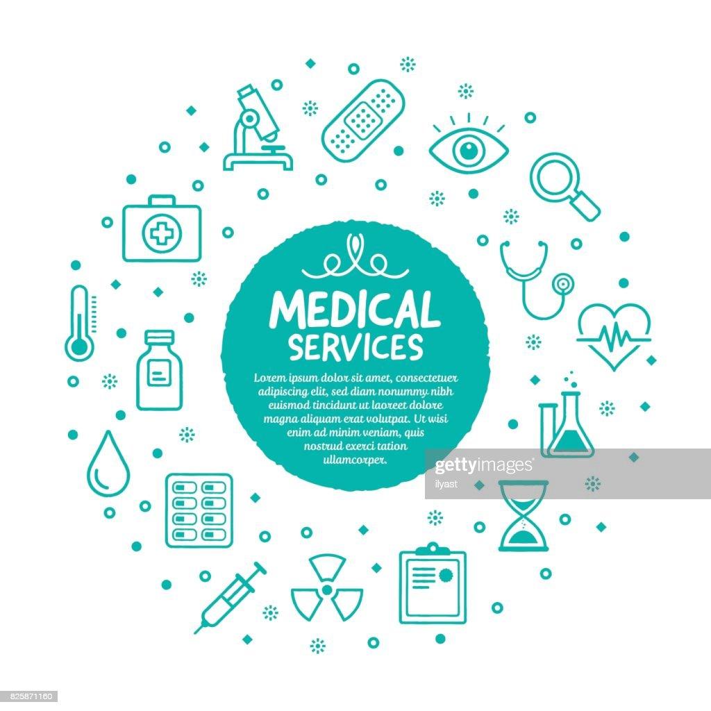 Medical Services Poster : stock illustration