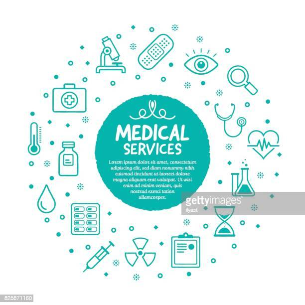 medical services poster - sensory perception stock illustrations