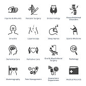Medical Services & Specialties Icons Set 5 - Blue Series