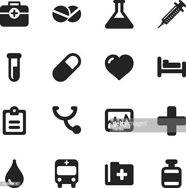 医療サインシルエットアイコン - 赤十字社点のイラスト素材/クリップアート素材/マンガ素材/アイコン素材