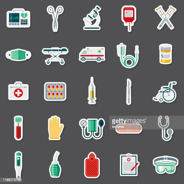 医療しなやつステッカーセット - 保護用手袋点のイラスト素材/クリップアート素材/マンガ素材/アイコン素材