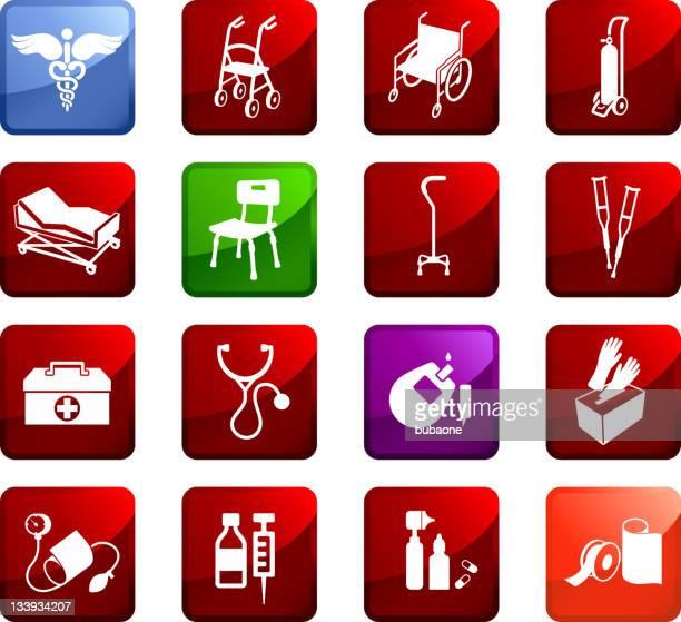 Material médico vector conjunto de ícones royalty free