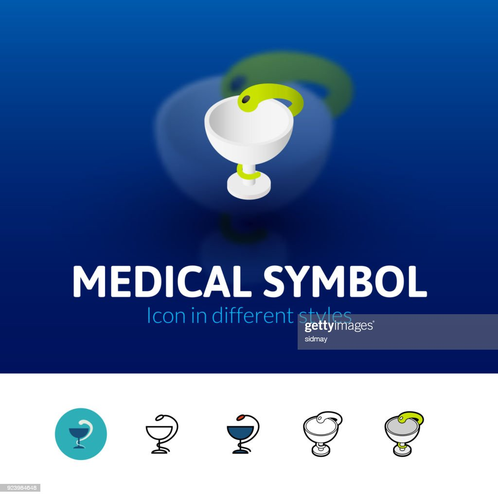 Medical symbol icon in different style
