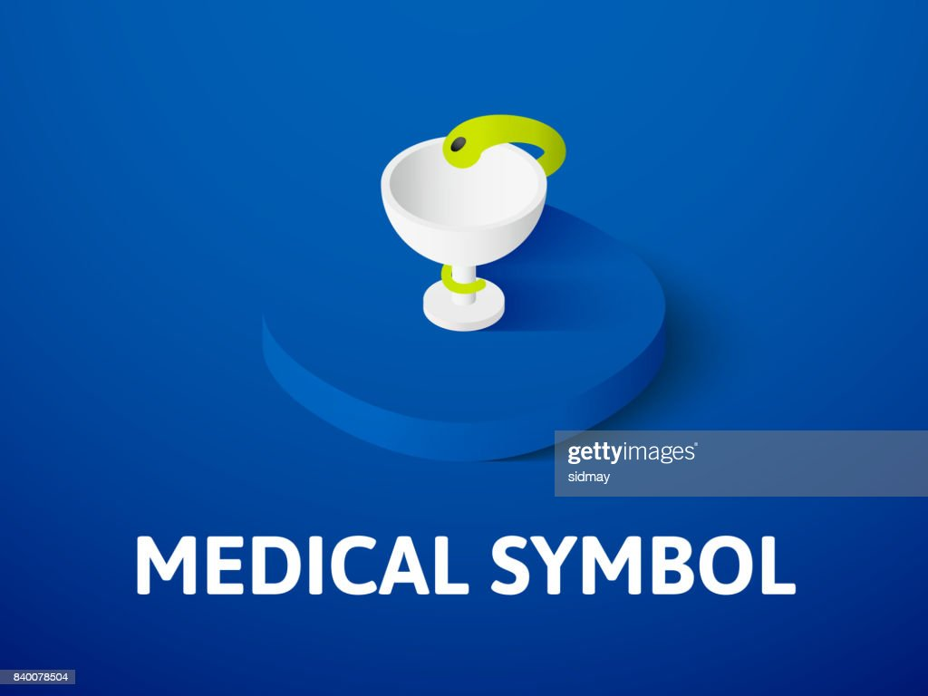 Medical symbol isometric icon, isolated on color background