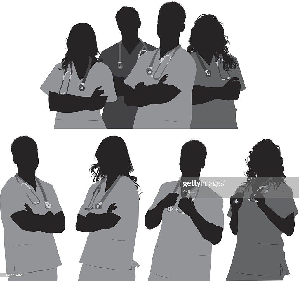 Medical team : Stock Illustration