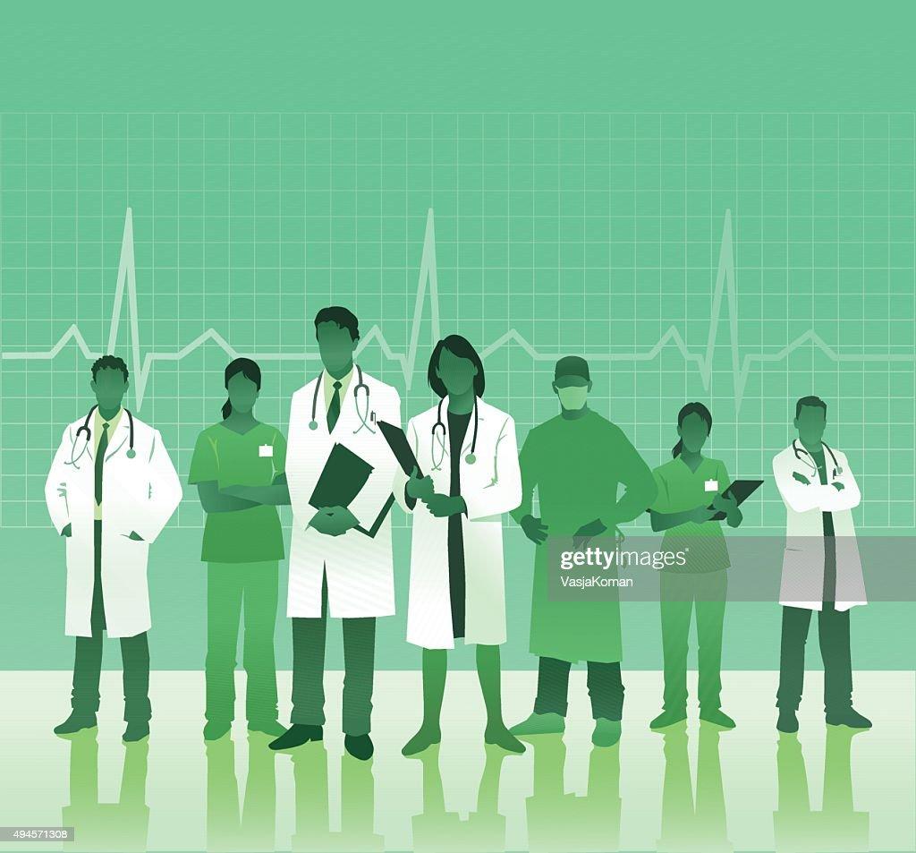 Equipo médico con espacio de copia : Ilustración de stock