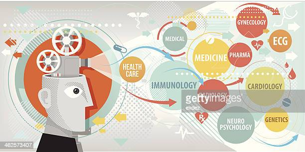 medical terms projection - immunology stock illustrations, clip art, cartoons, & icons