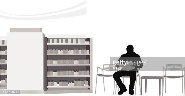 illustrazioni stock, clip art, cartoni animati e icone di tendenza di cose mediche - farmacia