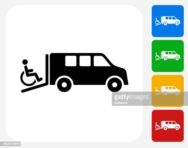 Medical Transportation Icon Flat Graphic Design