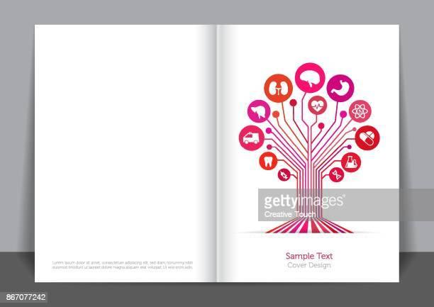 medical tree cover design - cardiopulmonary system stock illustrations, clip art, cartoons, & icons