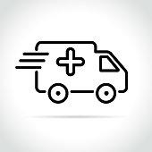 medical van icon on white background