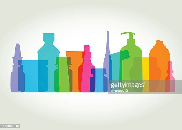 medicine and health containers - nutritional supplement stock illustrations, clip art, cartoons, & icons