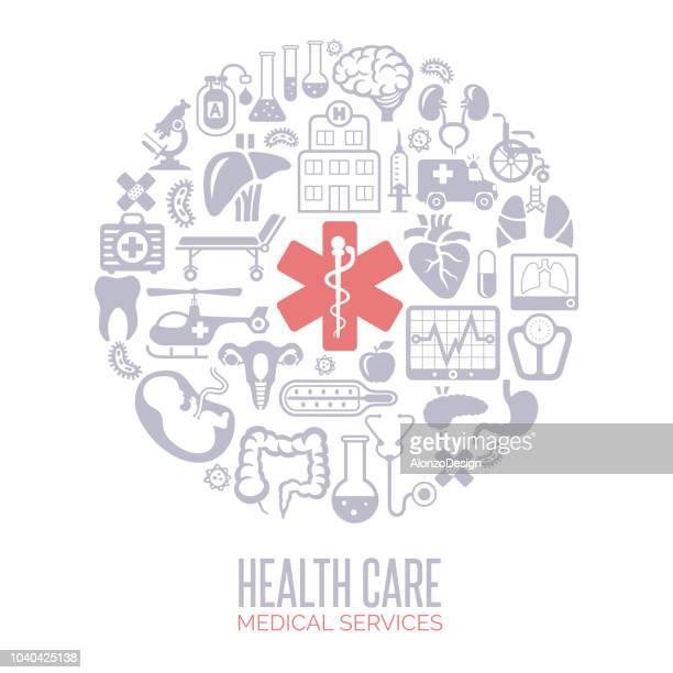 ilustrações, clipart, desenhos animados e ícones de medicina e saúde-colagem - exame de vista exame médico