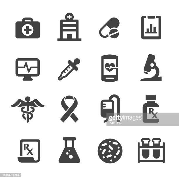 medicine and healthcare icons - acme series - blood test stock illustrations, clip art, cartoons, & icons