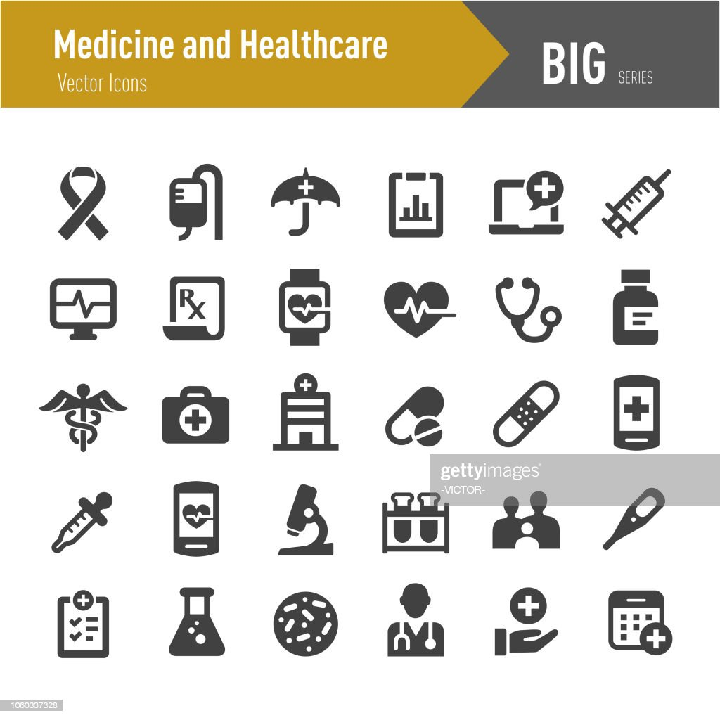 Medicine and Healthcare Icons - Big Series : stock illustration