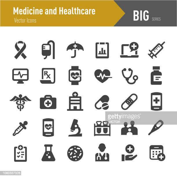 medicine and healthcare icons - big series - medical exam stock illustrations
