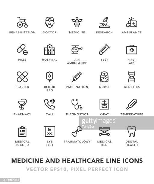 Medicine and Healthcare Line Icons