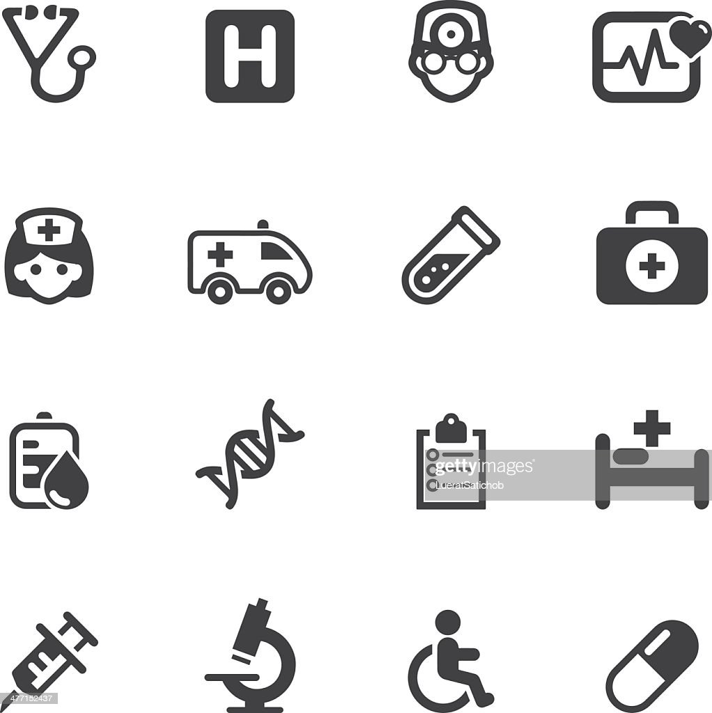 Medicine and Healthcare Silhouette icons 1