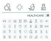 Medicine and healthcare vector icons