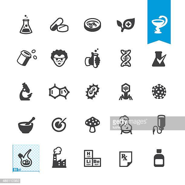 Medicine and Pharmacy related vector icons