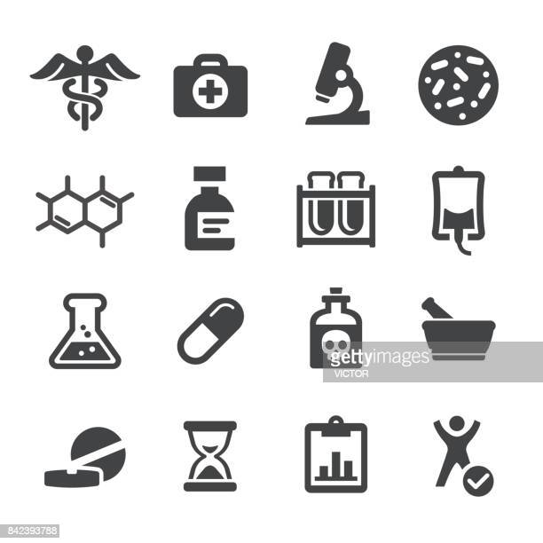 medicine and research icons - acme series - medical symbol stock illustrations, clip art, cartoons, & icons