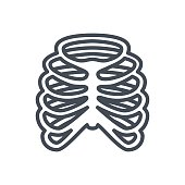 Medicine Bones Line Icon Ribs