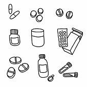 Medicine cartoon doodle vector illustration