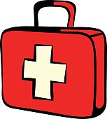 Medicine chest icon, icon cartoon