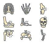 Medicine Colored Icon Broken Bones
