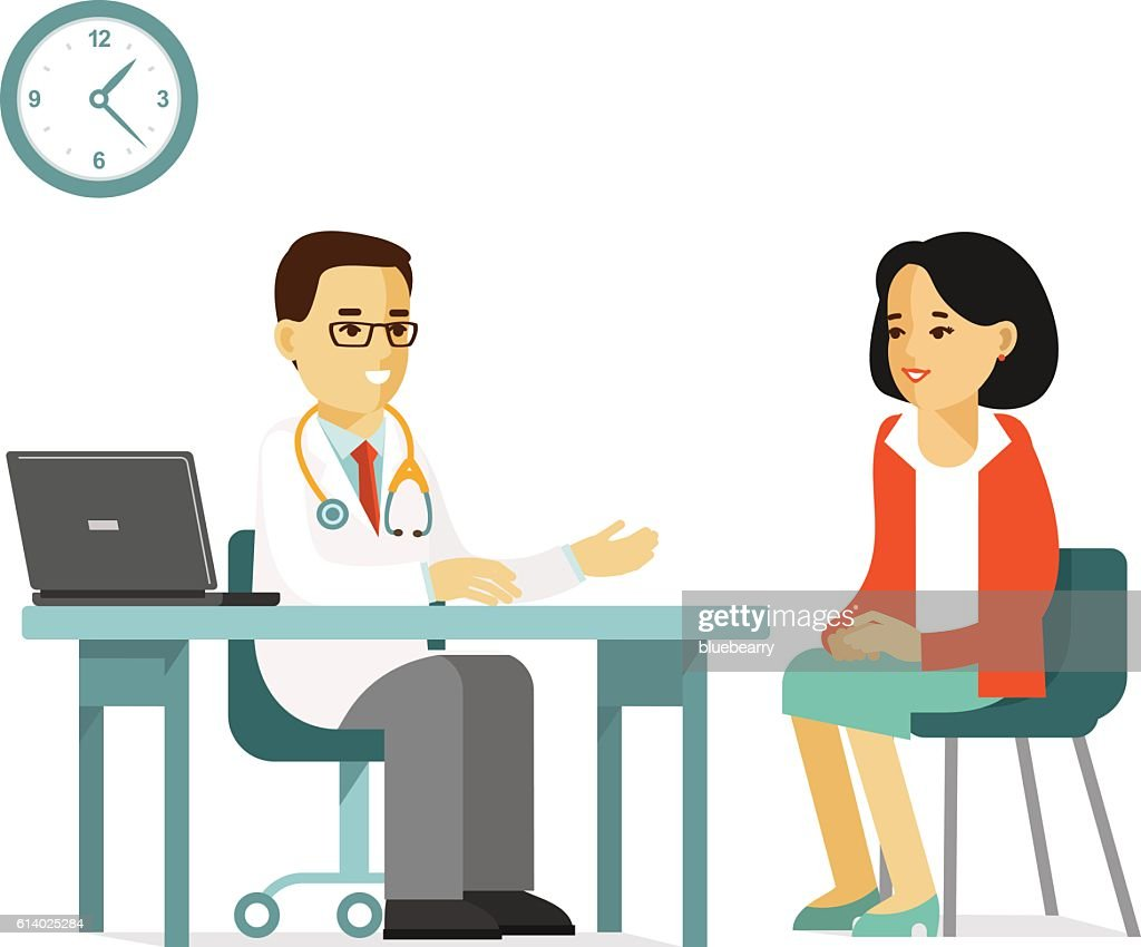Medicine concept with doctor and patient